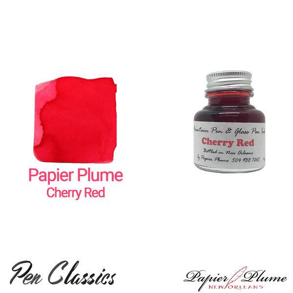 Papier Plume Cherry Red 30ml Bottle and Swab