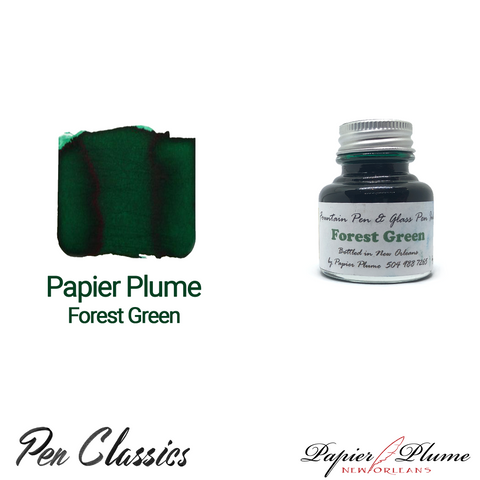 Papier Plume Forest Green 30ml Bottle and Swab
