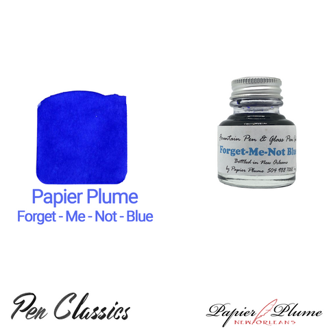 Papier Plume Forget-Me-Not-Blue 30ml Bottle and Swab