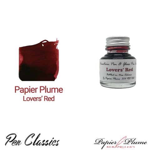 Papier Plume Lovers' Red 30ml Bottle and Swab