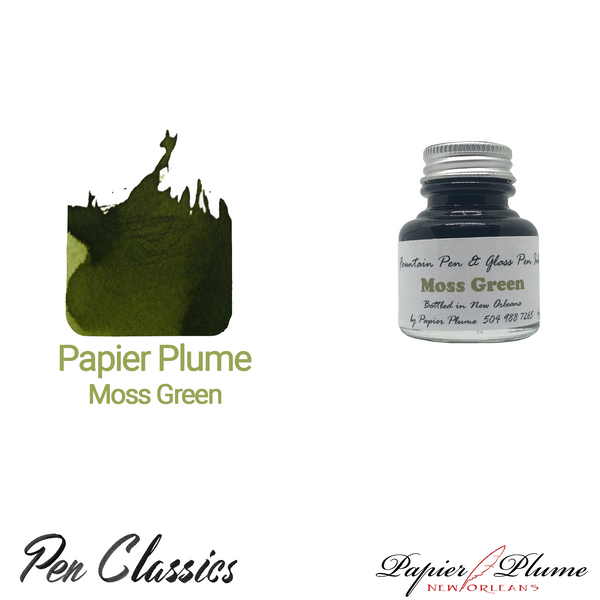 Papier Plume Moss Green 30ml Bottle and Swab