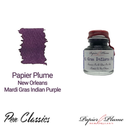 Papier Plume New Orleans Mardi Gras Indian Purple 30ml Bottle and Swab