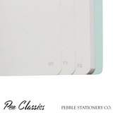 Pebble Stationery Co Cahier A5 Page Numbers