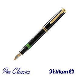 Pelikan Souverän M805 Fountain Pen Black with Gold Posted