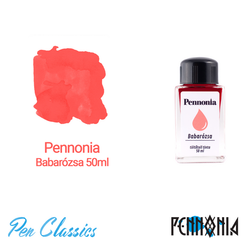 Pennonia Babarózsa 50ml Ink Bottle and Swab