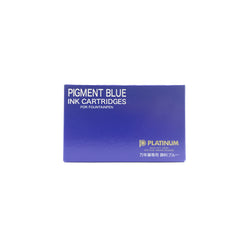 Platinum Pigment Blue Ink Cartridge 10 Pack