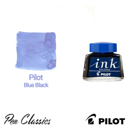 Pilot Blue Black Ink 30ml Ink Bottle and Swab