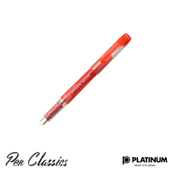 Platinum Preppy Red Fountain Pen Nib Posted