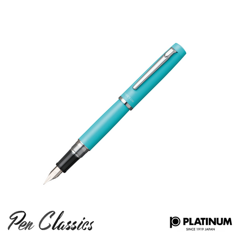 Platinum Procyon Turquoise Blue Fountain Pen Nib Posted