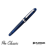 Platinum #3776 Chartres Blue Rhodium Trim Capped