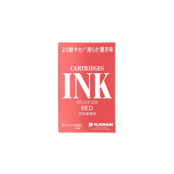 Platinum Dye Red Cartridge 10 Pack