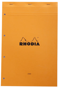Rhodia Bloc Orange Foolscap – Lined and Margined