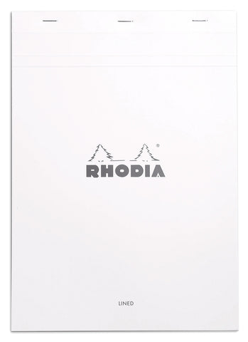 Rhodia Bloc White A4 – Lined and Margined