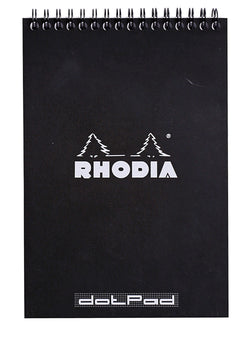 Rhodia Classic Black A5 Wirebound Pad – Lined