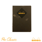 Rhodia Heritage A5 Raw Bound Notebook Lined - Chevrons Black
