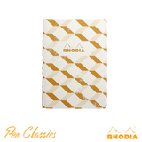 Rhodia Heritage A5 Raw Bound Notebook Lined - Escher Ivory