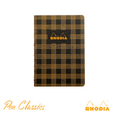 Rhodia Heritage A5 Raw Bound Notebook Lined - Tartan Black