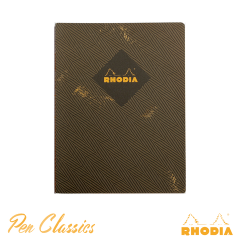 Rhodia Heritage B5 Raw Bound Notebook Lined - Chevrons Black