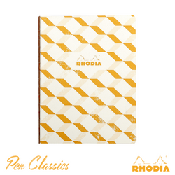 Rhodia Heritage B5 Raw Bound Notebook Lined - Escher Ivory