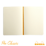 Rhodia Heritage A5 Raw Bound Notebook Lined - Chevrons Ivory