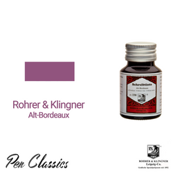 Rohrer & Klingner Alt Bordeaux Ink Bottle and Swab