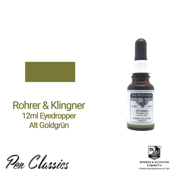 Rohrer & Klingner Alt Goldgrun 12ml Eyedropper Bottle and Swab