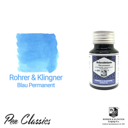 Rohrer & Klingner Blau Permanent Ink Bottle and Swab