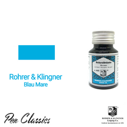Rohrer & Klingner Blu Mare Ink Bottle and Swab