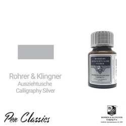 Rohrer & Klingner Calligraphy Silber 50ml Ink Bottle and Sample