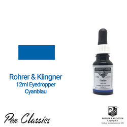 Rohrer & Klingner Cyanblau 12ml Eyedropper Bottle and Swab
