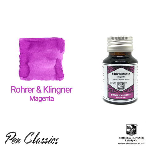 Rohrer & Klingner Magenta Ink Bottle and Swab