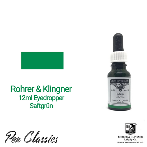 Rohrer & Klingner Saftgrün 12ml Eyedropper Bottle and Swab