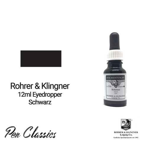 Rohrer & Klingner Schwarz 12ml Eyedropper Bottle and Swab