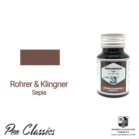 Rohrer & Klingner Sepia Ink Bottle and Swab