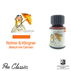 Rohrer & Klingner sketchINK Carmen Ink Drawing, Swab and Bottle