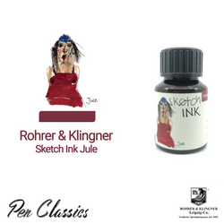 Rohrer & Klingner sketchINK Jule Ink Drawing, Swab and Bottle