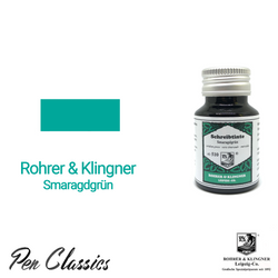 Rohrer & Klingner Smaragdgrün Ink Bottle and Swab