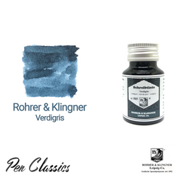 Rohrer & Klingner Verdigris Ink Bottle and Swab