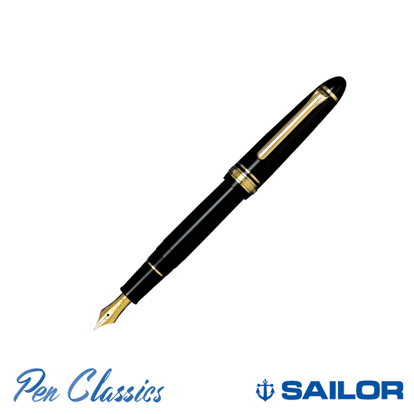 Sailor 1911 Standard Black with Gold Trim