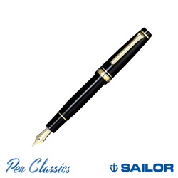 Sailor Professional Gear Black with Gold Trim
