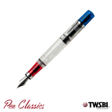 TWSBI Diamond 580 Red and Blue