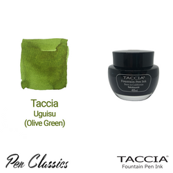 Taccia Uguisu (Olive Green) 40ml Ink Bottle