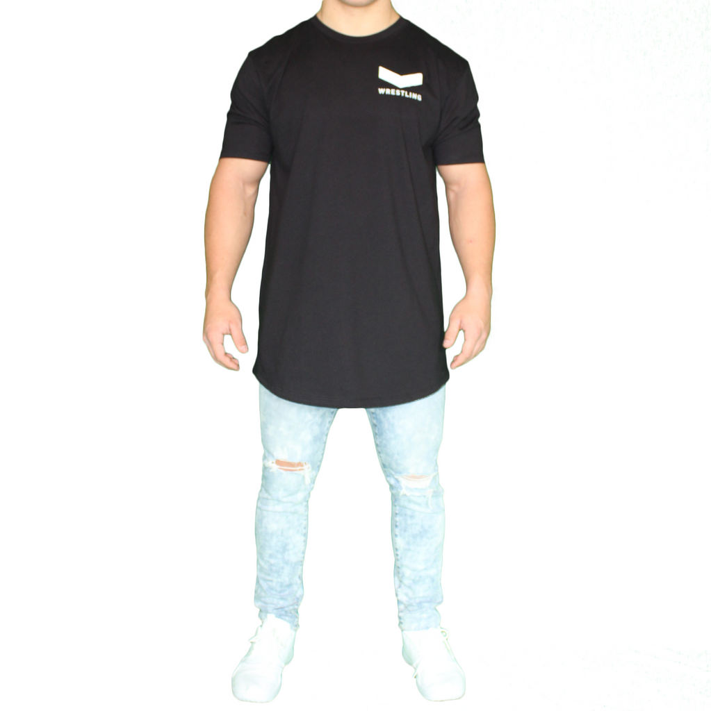 Vector Long Body Tee - Black