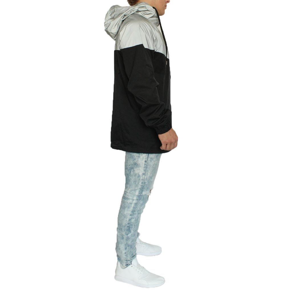 Vector 3M Reflective Wind Breaker - Gray/Black