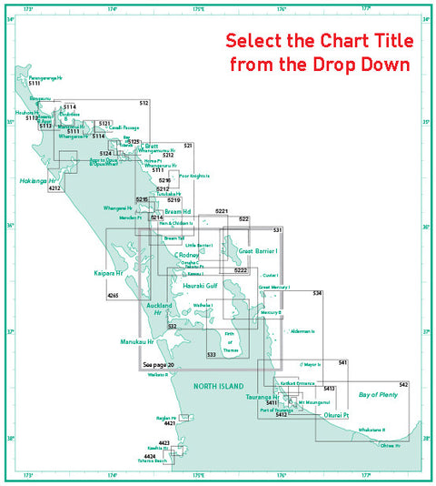 LINZ Maritime Charts - Northern Zone - Part 1