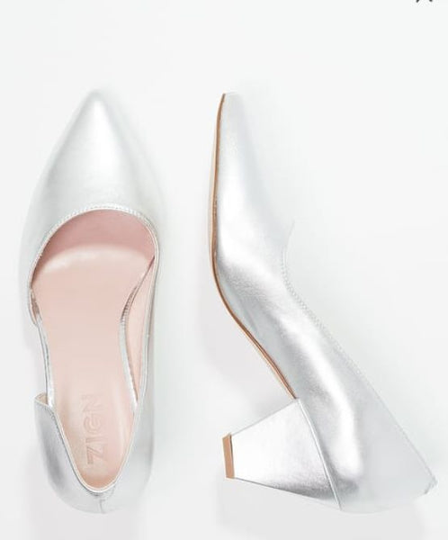 ZIGN Silver Leather Shoes