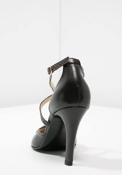 KIOMI Black Leather Classic High Heels-Made in Portugal