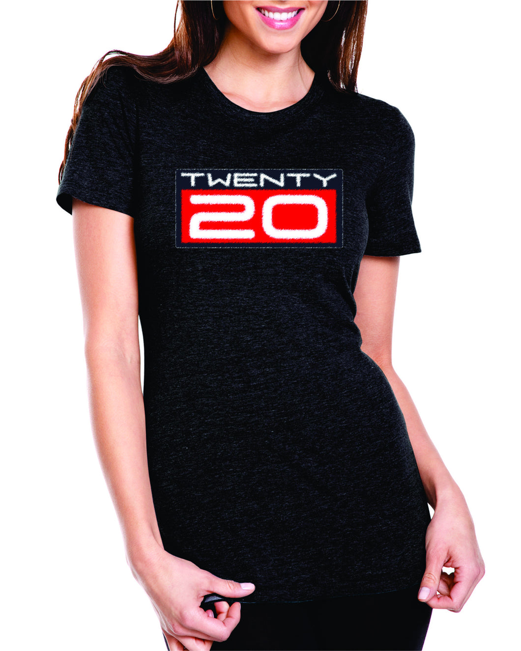 TWENTY20 womens spray paint tshirt benefiting Sho-Air TWENTY20 Ridebiker Junior Development Team