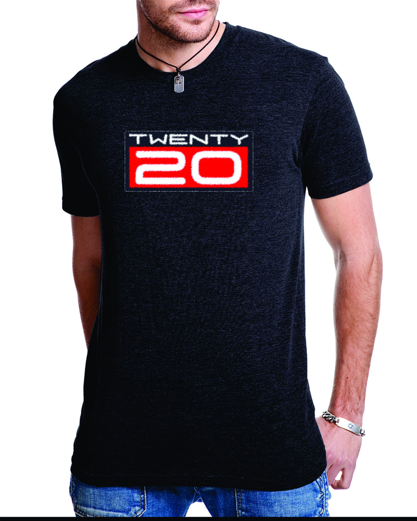 TWENTY20 mens spray paint tshirt benefiting Sho-Air TWENTY20 Ridebiker Junior Development Team