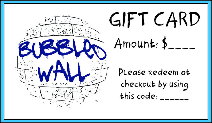 Bubbled Wall Gift Card